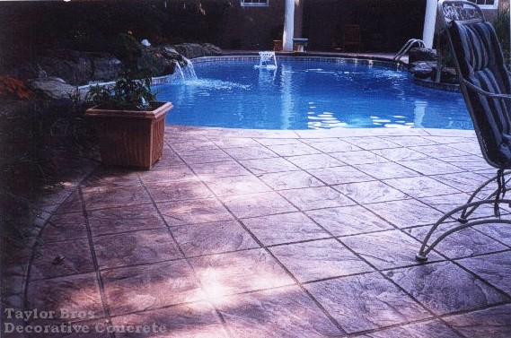 Slate Tile Pool Deck